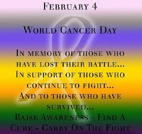 February 4: World Cancer Day