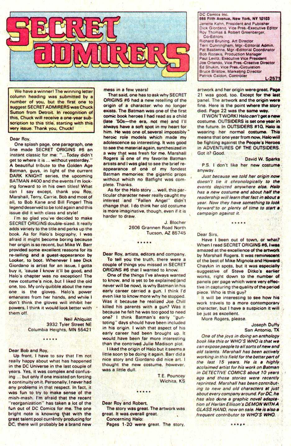 Read online Secret Origins (1986) comic -  Issue #11 - 41