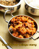 Cauliflower milagu curry recipe