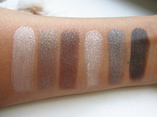 essence all about chocolate eyeshadow palette swatches