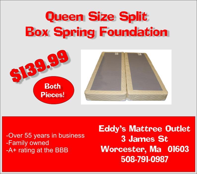 mattress man online worcester split box spring foundation for queen or full mattress only 139. Black Bedroom Furniture Sets. Home Design Ideas