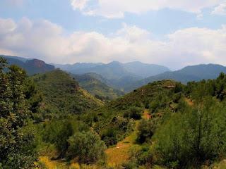 Vista de la Sierra de la Calderona, en el interior de la provincia de Valencia.