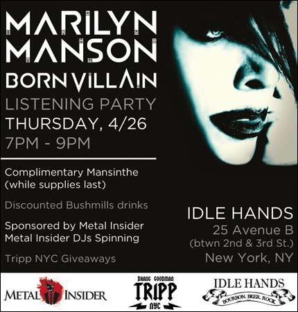 marilyn manson blog fan site born villain listening party nueva york abril 26. Black Bedroom Furniture Sets. Home Design Ideas