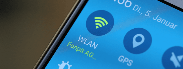 WLAN password in Android