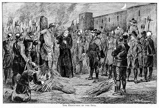 La ejecución del Inca Atahualpa (Grabado de 1891)