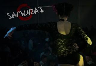 Bailarina de espaldas de la Discoteca Samuray