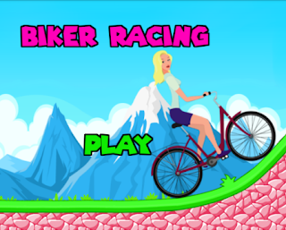 Biker Girl Cycling Hill Climb