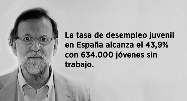 La tasa de desempleo juvenil en España alcanza el 43,9%