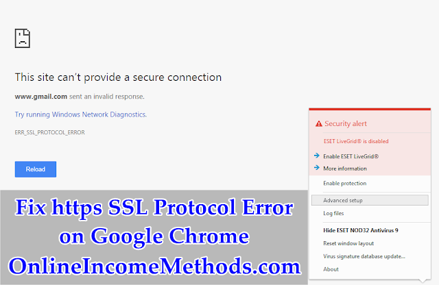 How To Fix https SSL Protocol Error on Chrome Using VPN / Proxy?