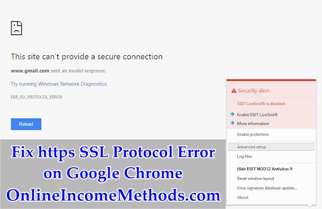 How To Fix https SSL Protocol Error on Chrome Using VPN / Proxy?