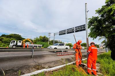Dnit remove fotossensores em estrada federal no Ceará
