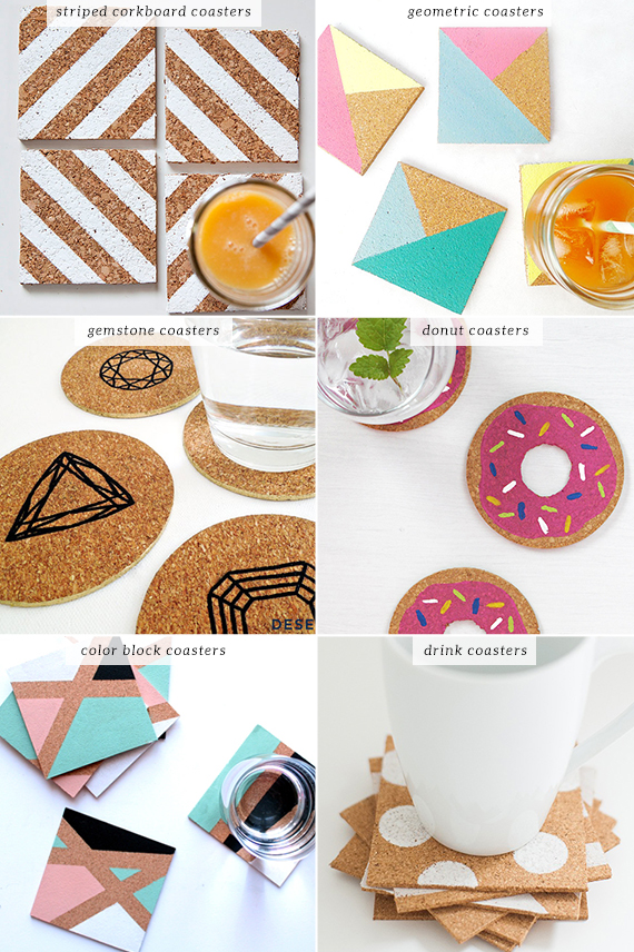 DIY: Easy cork coasters