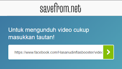 pastekan url video di savefrom.net