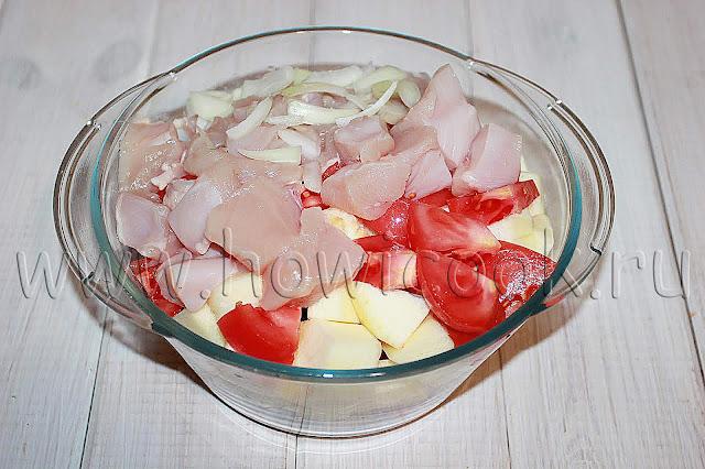 рецепт горшочков с курицей и овощами с пошаговыми фото