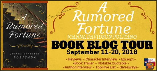 A Rumored Fortune book blog tour promotion banner