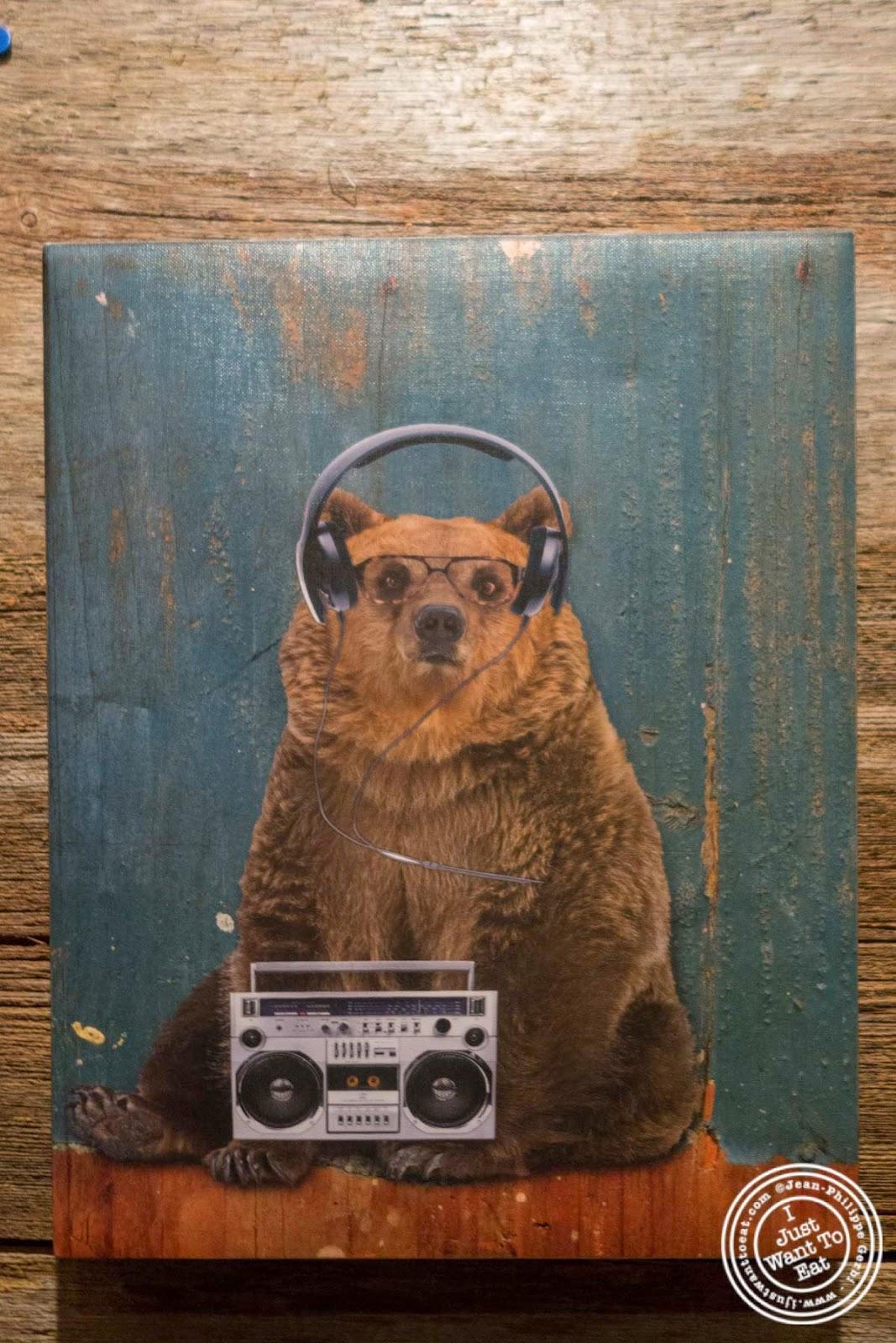 熊的图象在圣诞节的在纽约,纽约