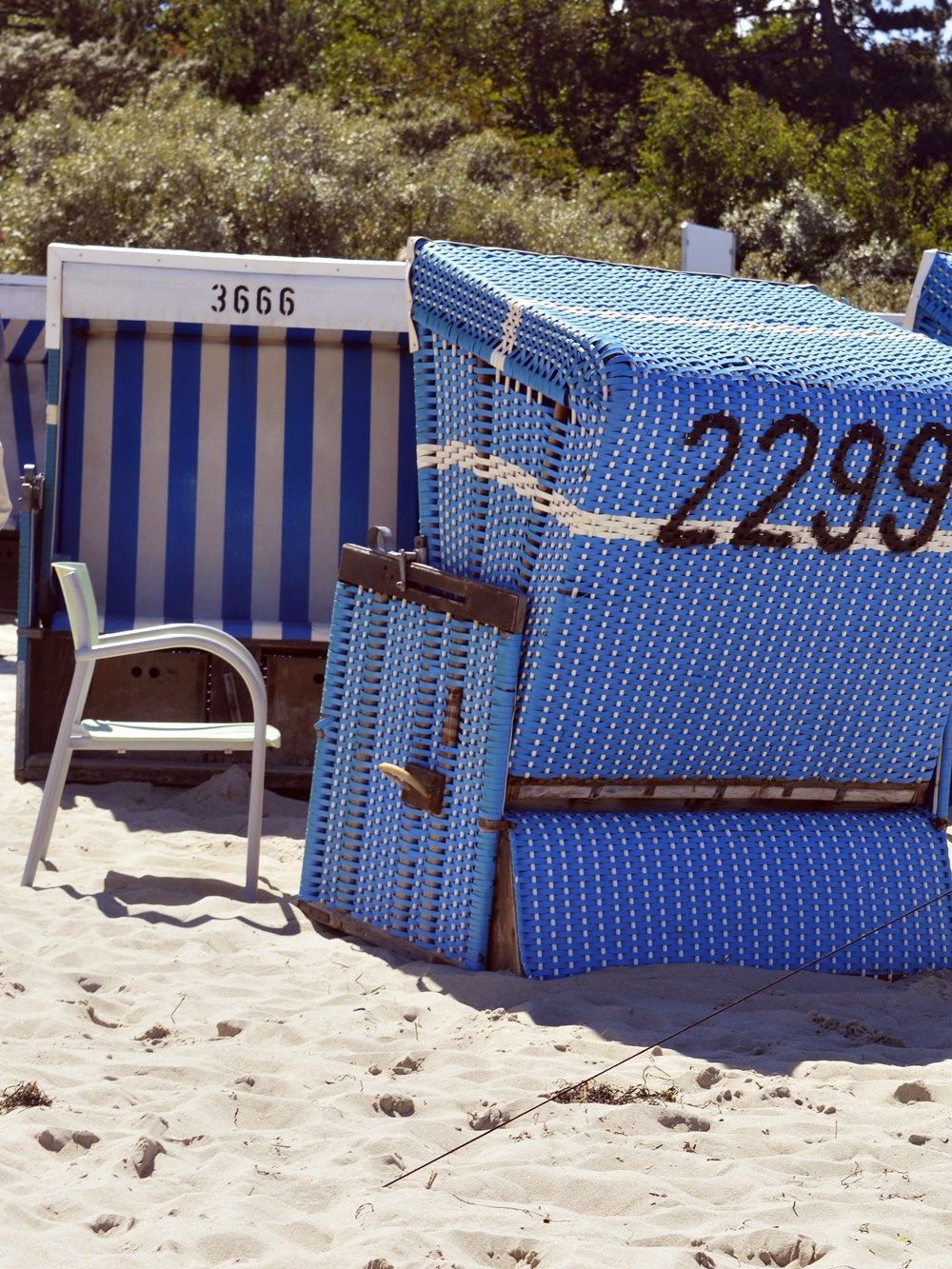 beach chairs - protects you from sun... don't forget to protect your head and skin from sun