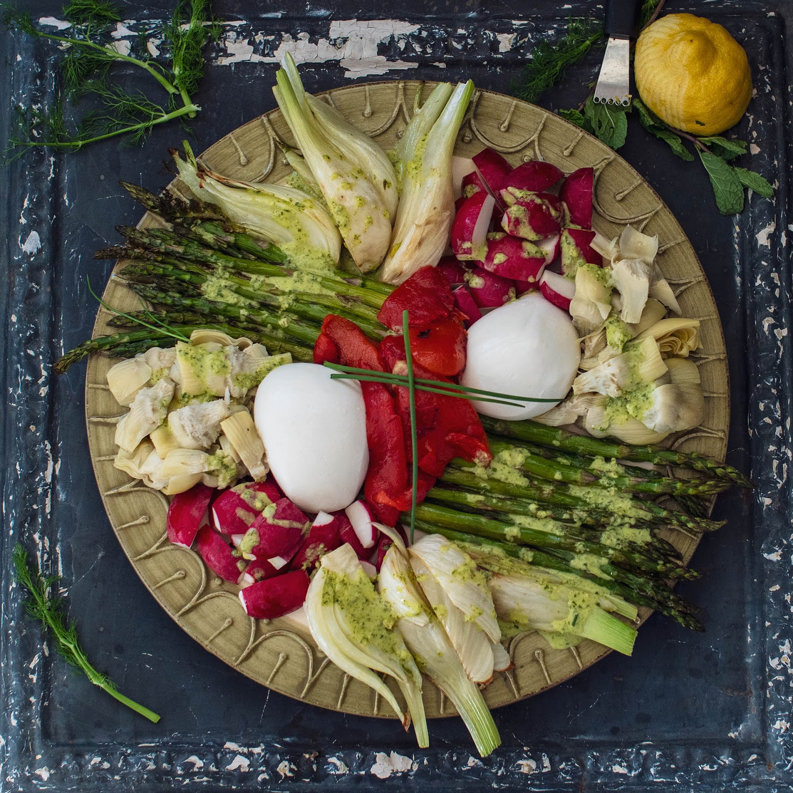Spring Antipasto with Burrata | Local Food Rocks