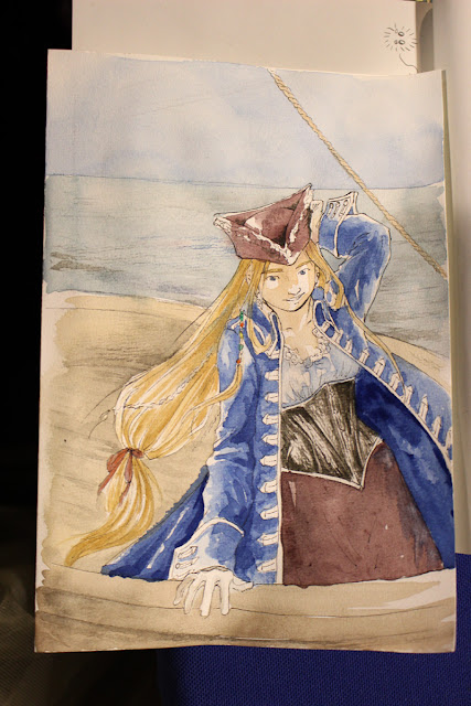 une capitaine pirate (aquarelle)