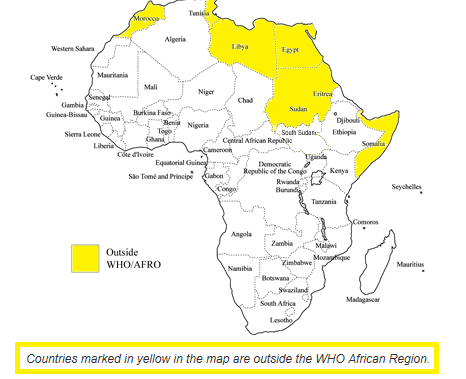 According to WHO African Region, Nigeria and South Africa have the highest fatality rates.