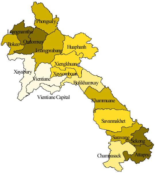 Provinsi di negara Laos