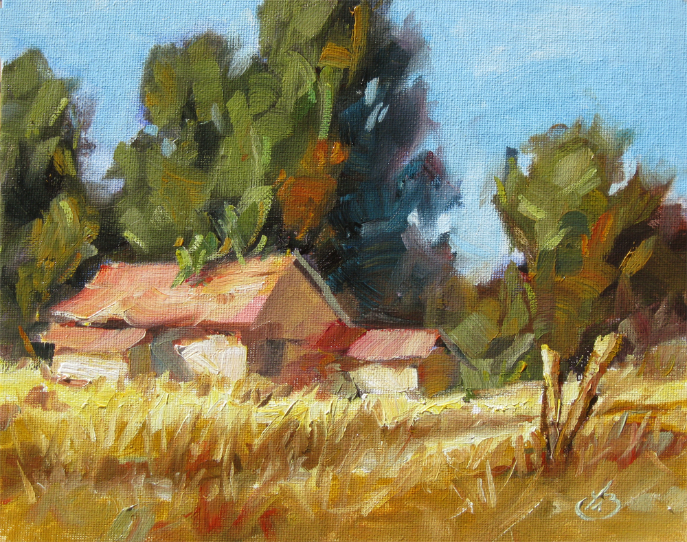 Tom brown fine art barn 1 sale tom brown original oil for Painting for sale by artist