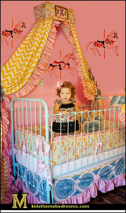 carousel theme bedroom ideas - carousel bedroom set - carousel horse theme girls bedrooms - carousel horse decor -  carousel merry go round wall decals - carousel theme baby bedrooms - girls bedrooms theme - carousel horse nursery theme - carousel themed nursery - Carousel  animals Wall Stencils