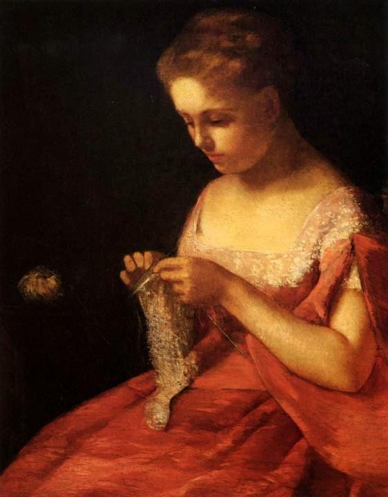 A Jovem Noiva - Pinturas de Mary Cassatt | Mulheres na pintura
