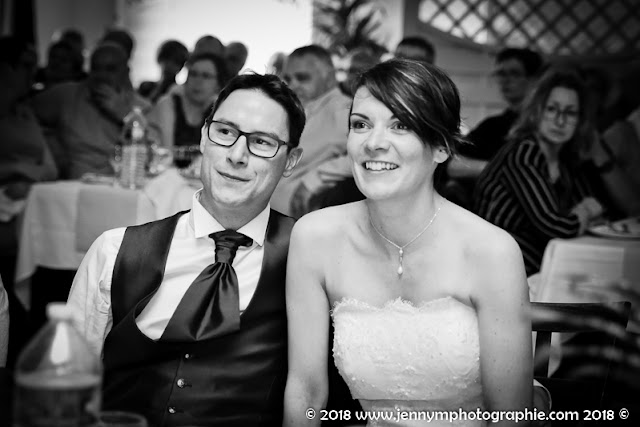portrait volée mariés photo repas animations noir et blanc