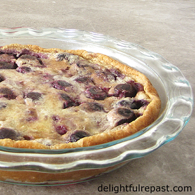 Cherry Clafoutis - Clafoutis aux Cerises - the classic rustic yet elegant French dessert / www.delightfulrepast.com