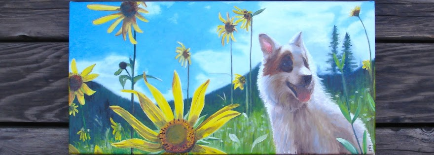 Photo of flower and dog