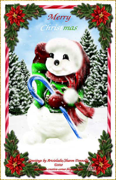 Happy Snowman 2005rev art by/copyrighted to Artsieladie