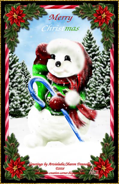 Happy Snowman 2005rev art by/copyrighted to Artsieladie