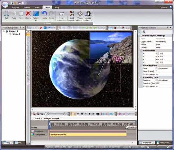 تحميل برنامج تحرير الفيديو VSDC Free Video Editor مجانا