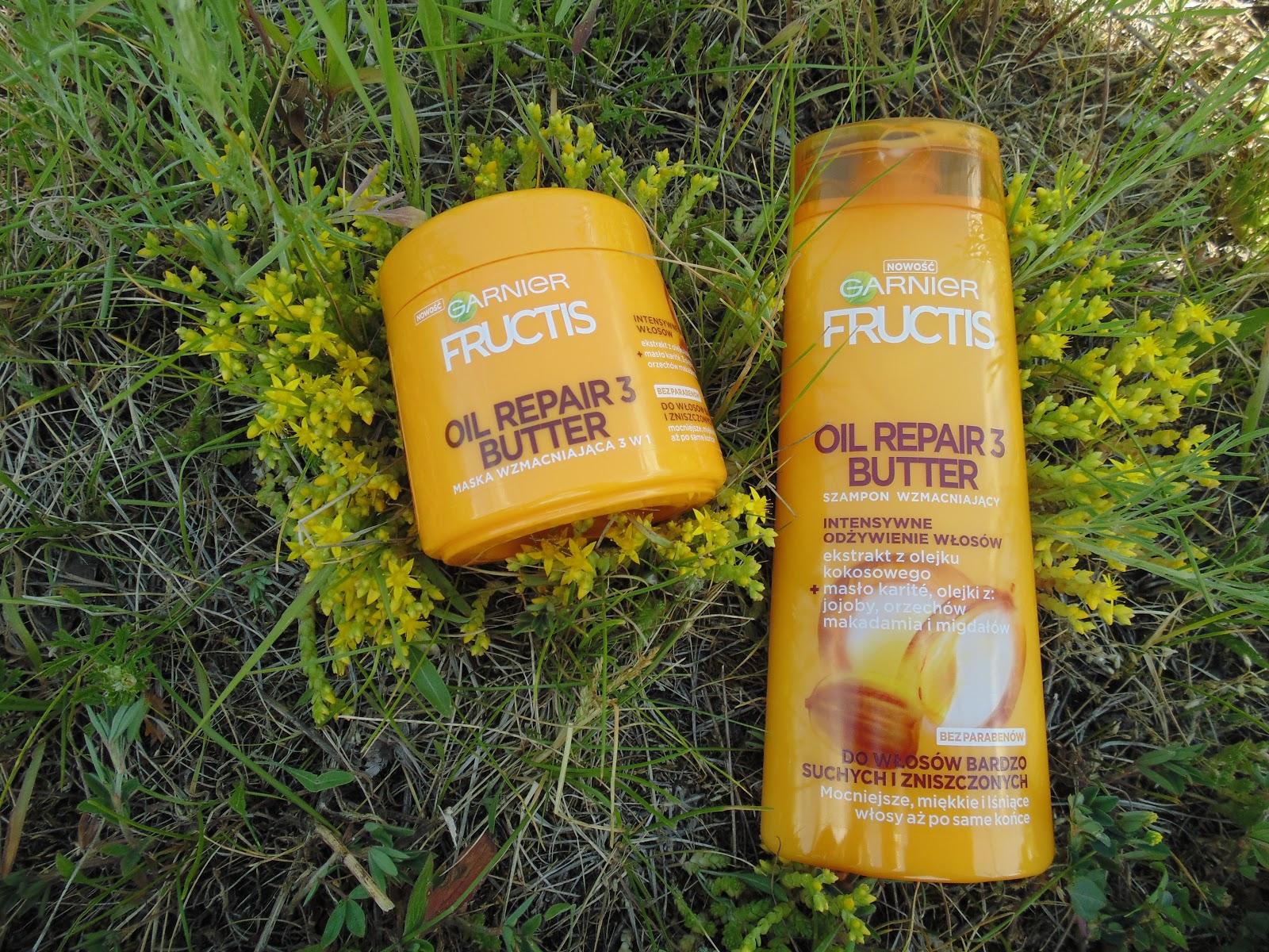 Garnier fructis Oil Repair 3 butter szampon i maska do włosów bardzo suchych i zniszczonych/ recenzja