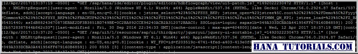 HANA Tutorials: SAP HANA HTTP Trace