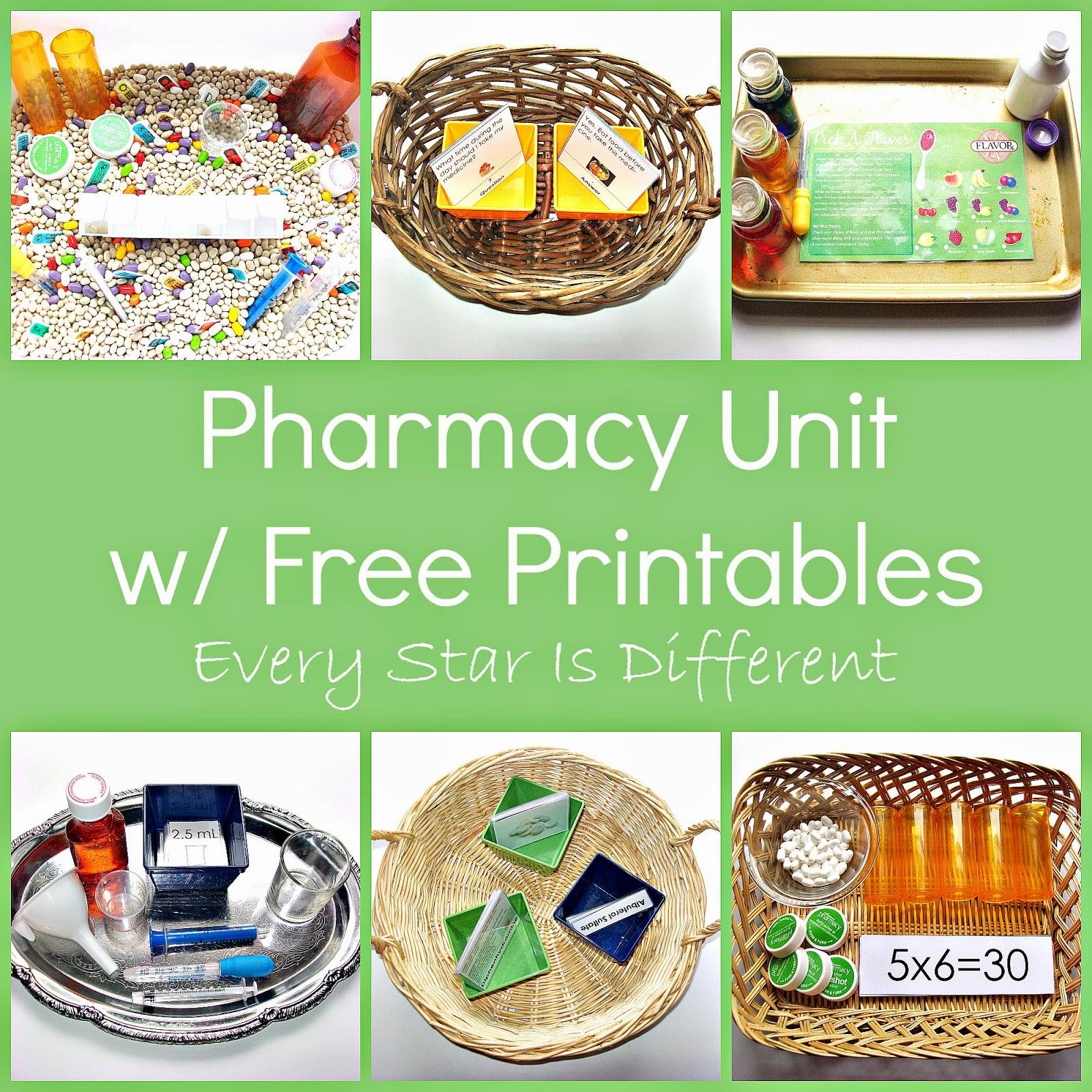 Pharmacy Unit W Free Printables