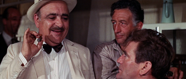Akim Tamiroff and Rod Taylor in The Liquidator (1965)