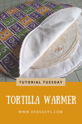 Homemade Fabric Tortilla Warmer Sewing Project