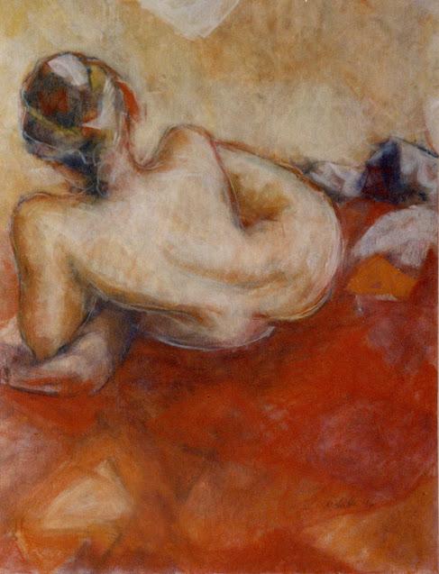 Nude Reading - Painting -  Rosemary Marchetta