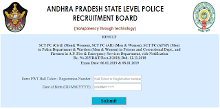 APSLPRB AP Police Constable Result 2019 declared - check now