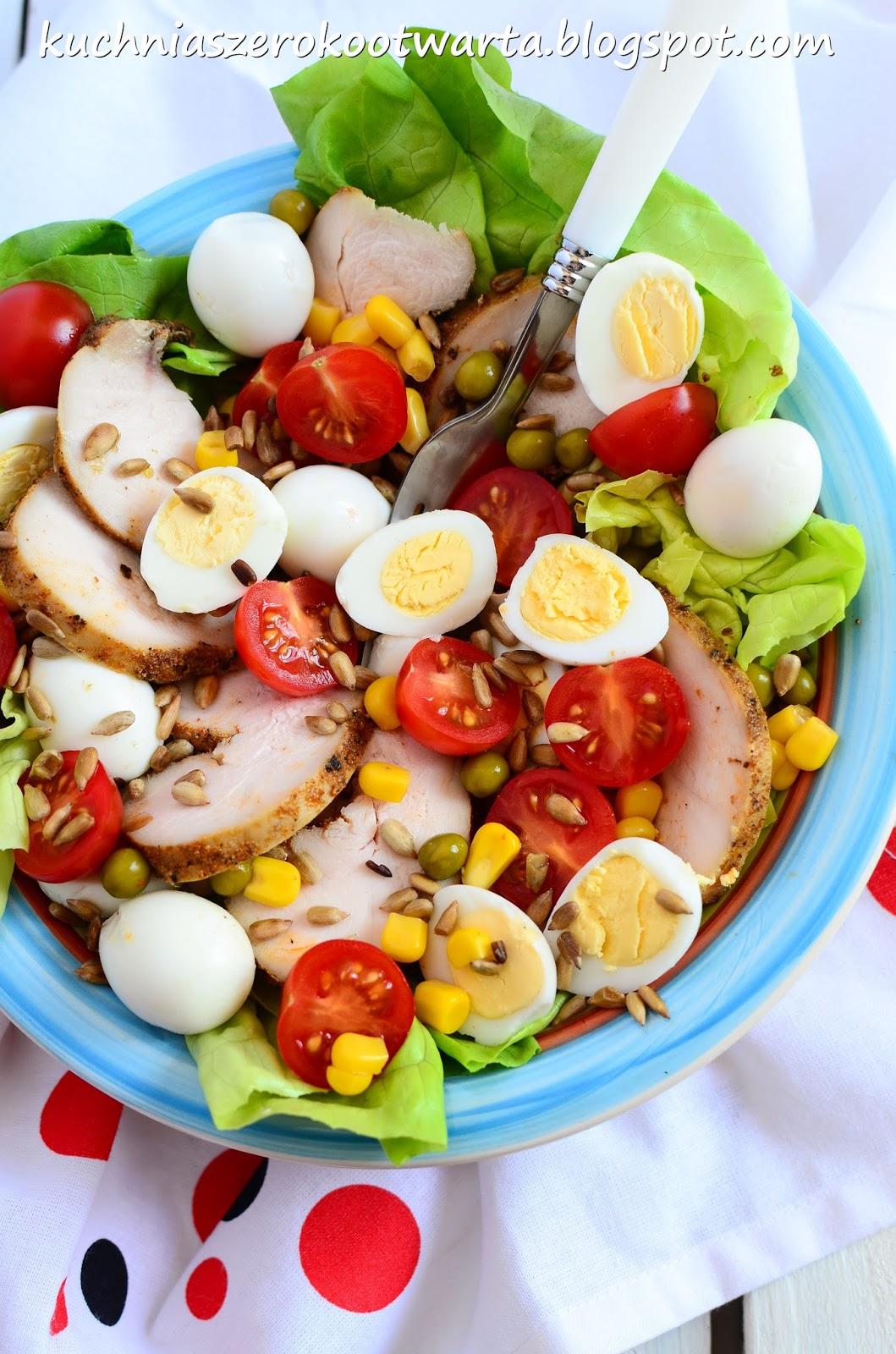Kuchnia Szeroko Otwarta Salatka Z Piersia Jajkami Przepiorczymi I