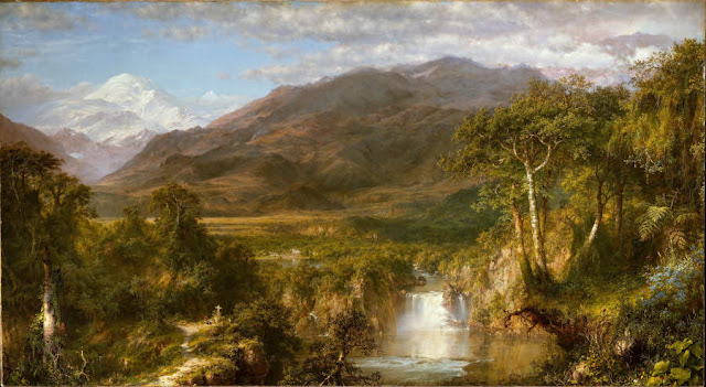 Frederic Church,The Heart of the Andes,painting