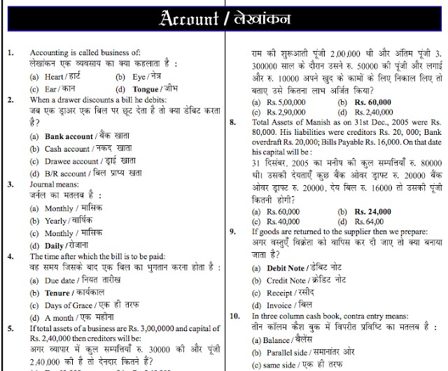 Accounts MCQ Compilation PDF for SSC CGL AAO (Abhinay Sir)