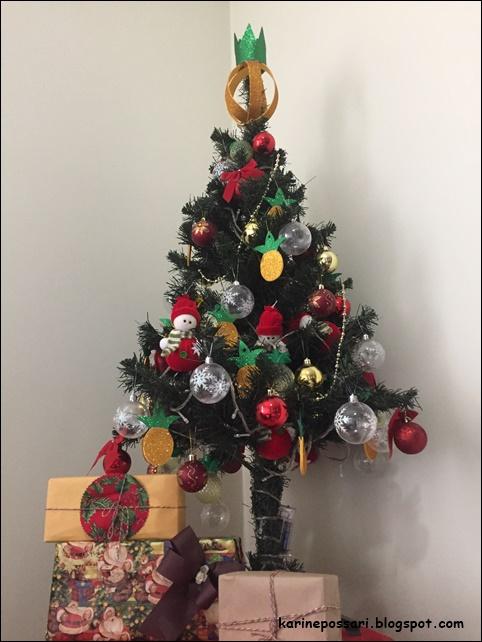 abacaxi na decoração de natal