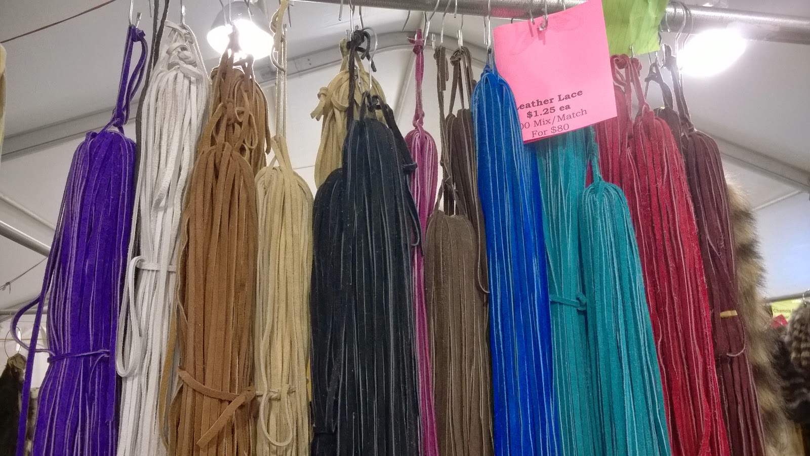dyed leather cord