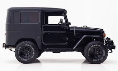 Black Toyota FJ40 Side Right