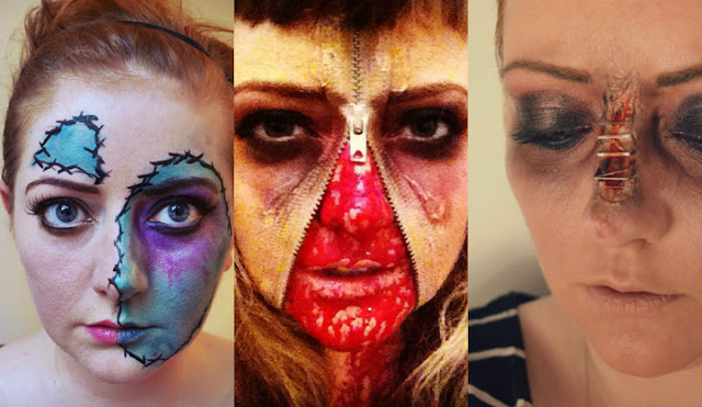 Easy scary Halloween makeup tutorials