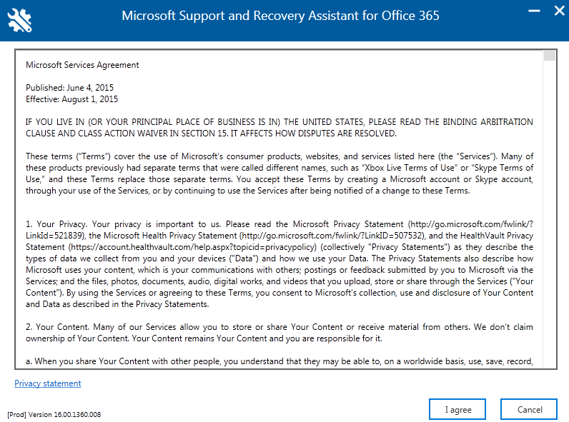 Microsoft Support And Recovery Assistant For Office 365 Unified