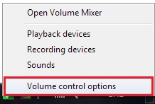 Volume control options